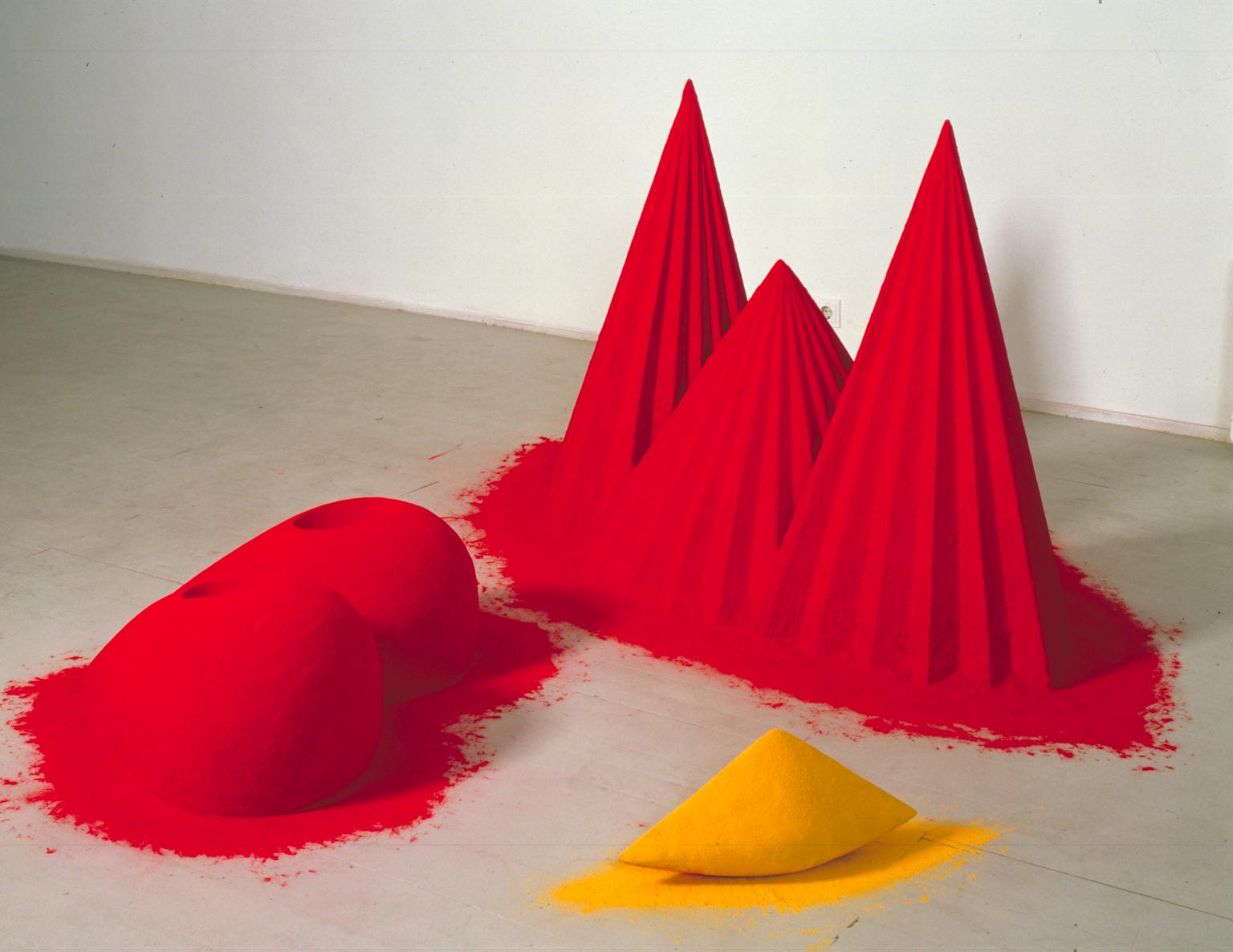 As if to Celebrate, I Discovered a Mountain Blooming with Red Flowers 1981 by Anish Kapoor born 1954